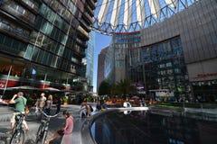 Wrażenia od Sony centrum przy Potsdam kwadratem, Potsdamer Platz w Berlin od Czerwa 1, 2017, Niemcy Zdjęcia Royalty Free