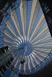 Wrażenia od Sony centrum przy Potsdam kwadratem, Potsdamer Platz w Berlin od Czerwa 1, 2017, Niemcy Fotografia Stock