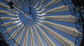 Wrażenia od Sony centrum przy Potsdam kwadratem, Potsdamer Platz w Berlin od Czerwa 1, 2017, Niemcy Zdjęcie Stock