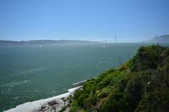 Wrażenia od wyspy Alcatraz w zatoce San Fransisco, Kalifornia usa Fotografia Stock