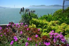 Wrażenia od wyspy Alcatraz w zatoce San Fransisco, Kalifornia usa Zdjęcia Royalty Free