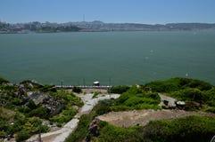 Wrażenia od wyspy Alcatraz w zatoce San Fransisco, Kalifornia usa Zdjęcia Stock