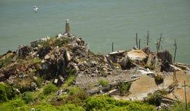 Wrażenia od wyspy Alcatraz w zatoce San Fransisco, Kalifornia usa Obrazy Royalty Free