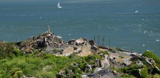 Wrażenia od wyspy Alcatraz w zatoce San Fransisco, Kalifornia usa Fotografia Royalty Free