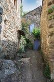 Wrażenie wioski moda w Ardeche regionie Francja Zdjęcia Royalty Free