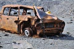 Wrack eines alten Autos stockfotos