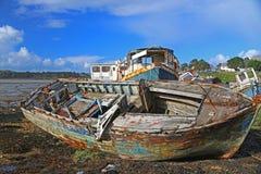 Wracke von Fischerbooten Lizenzfreie Stockbilder