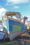 Wracke von Fischerbooten Lizenzfreie Stockfotos