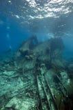 Wrackfrachter Kormoran - sank Tiran 1984 Stockbilder