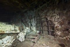 Wrackfrachter Kormoran - sank Tiran 1984 Stockfoto