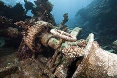 Wrackfrachter Kormoran - sank Tiran 1984 Lizenzfreie Stockfotos