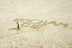 wraiting的沙子 库存图片