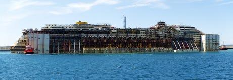 Wrak Costa Concordia Fotografia Stock