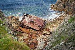 Wrak het van Cornwall van het Eind van het Land van de Kust royalty-vrije stock foto