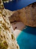 wrak na plaży Zdjęcia Stock