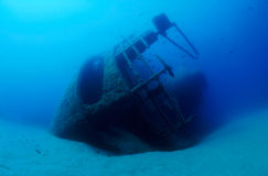 Wrak onderwater stock foto
