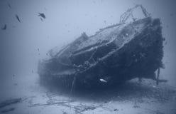 Wrak onderwater royalty-vrije stock afbeeldingen