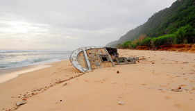 Wrak op het strand van Eiland Gili Royalty-vrije Stock Afbeeldingen