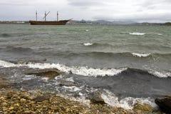 Wrak van Dame Elizabeth - de Falkland Eilanden royalty-vrije stock afbeelding