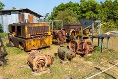 Wrak van de oude machines van het mijnbouwgraafwerktuig royalty-vrije stock afbeeldingen
