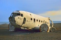 Wrak van een vliegtuig royalty-vrije stock foto