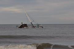 Wrak van Fishboat royalty-vrije stock afbeelding