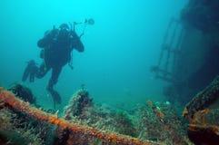 Wrak w Czarnym morzu zdjęcia royalty free