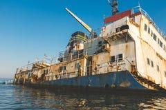 Wrakvrachtschip in de Zwarte Zee Royalty-vrije Stock Fotografie