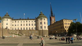 Wrangel Palace in Stockholm. Sweden. stock video