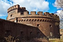 Wrangel Tower - fort of Koenigsberg. Kaliningrad (until 1946 Koenigsberg), Russia Stock Image