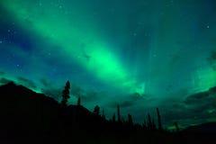 Wrangell Mountains Northern Lights Aurora Borealis Alaska Night Royalty Free Stock Photo