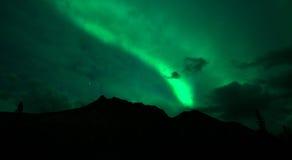 Wrangell Mountains Northern Lights Aurora Borealis Alaska Night Royalty Free Stock Image