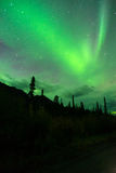 Wrangell Mountains Northern Lights Aurora Borealis Alaska Night Stock Images
