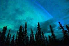 Wrangell Mountains Northern Lights Aurora Borealis Alaska Night Stock Images
