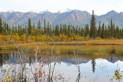 Wrangell-St. Elias National Park. Established in 1980 by the Alaska National Interest Lands Conservation Act, Wrangell-St. Elias National Park and Preserve is a royalty free stock photos