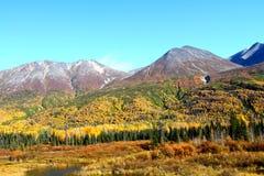 Wrangell-St. Montanhas de Elias Fotos de Stock Royalty Free