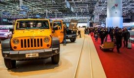 wrangler 2012 för geneva jeepmotorshow Fotografering för Bildbyråer