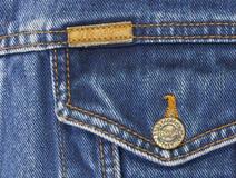 Wrangler della giacca blu isolato su fondo bianco Fotografie Stock Libere da Diritti
