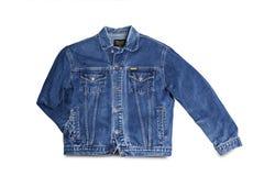 Wrangler della giacca blu isolato su fondo bianco Fotografia Stock Libera da Diritti
