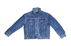 Wrangler della giacca blu isolato su fondo bianco Fotografie Stock