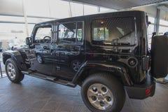 Wrangler della jeep, Sahara Fotografie Stock Libere da Diritti