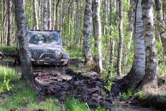Wrangler do jipe em Rússia Foto de Stock