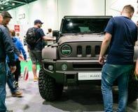 Wrangler Jeep Black Hawk en el salón del automóvil 2019 de Londres fotos de archivo libres de regalías