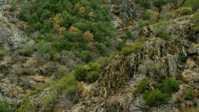 Wrap around hillside valley stock footage