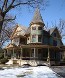 Wrap Around Porch. This is a Winter picture of the Albert H. Sears House in Plano, Illinois.  The house was designed by E.H. Gammon and E.L. Hardin, is an Royalty Free Stock Image
