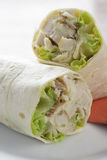 Wrap chicken in a plate Royalty Free Stock Photography