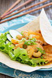 Wrap with Chicken in sweet and sour sauce Stock Image