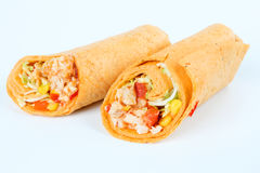 Wrap with chicken Royalty Free Stock Photo