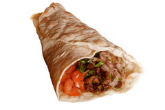 Wrap with kebap Royalty Free Stock Image