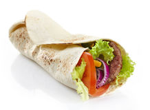Wrap with meat and vegetables Stock Photography